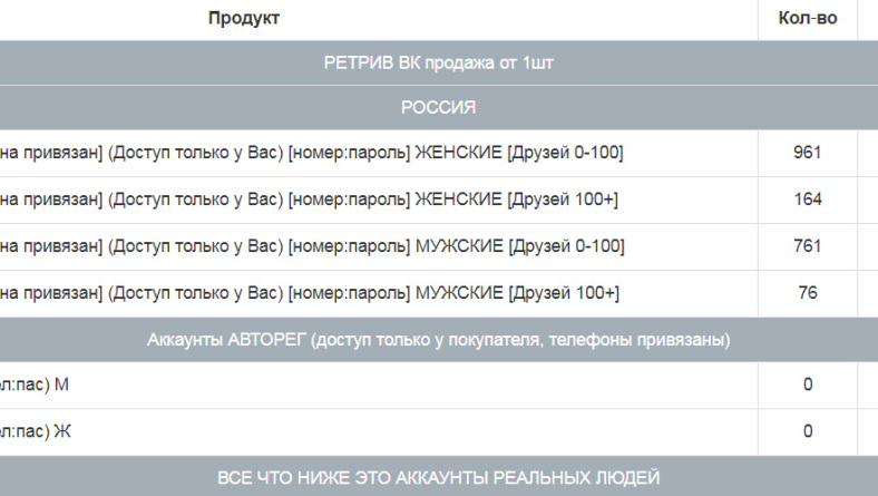 Магазин аккаунтов ВК — GreenShop